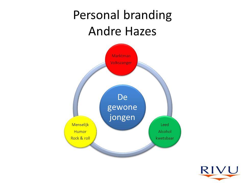 Personal branding Andre Hazes De gewone jongen Marktman Volkszanger Leed Alcohol kwetsbaar Menselijk Humor Rock & roll