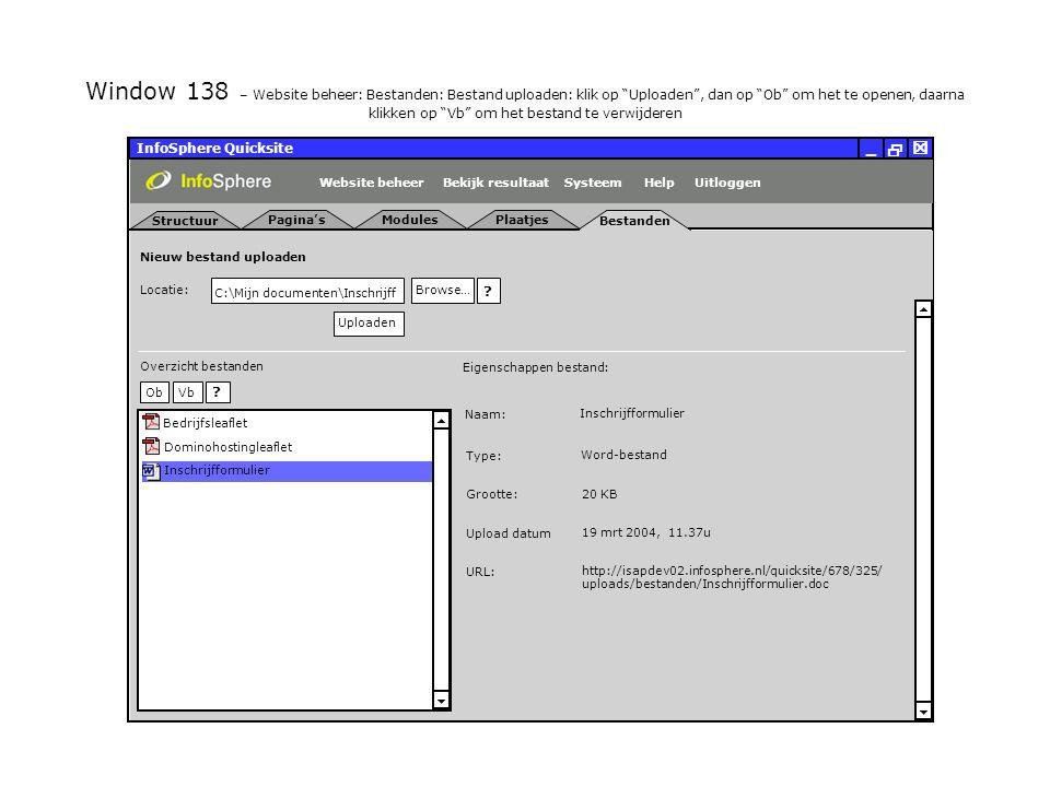 Bestanden InfoSphere Quicksite   _ Plaatjes Locatie:   Nieuw bestand uploaden .