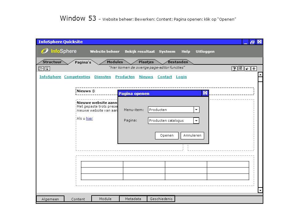 InfoSphere Quicksite   _ hier komen de overige page-editor functies      InfoSphereInfoSphere Competenties Diensten Producten Nieuws Contact LoginCompetentiesDienstenProductenNieuwsContactLogin  Pagina's Structuur UitloggenSysteem ModulesPlaatjesBestanden Bekijk resultaat MetadataGeschiedenis Content  Module Algemeen HelpWebsite beheer Window 53 – Website beheer: Bewerken: Content: Pagina openen: klik op Openen Nieuwe website aannemingsbedrijf Lamers LIVE Met gepaste trots presenteren wij u de lancering van de nieuwe website van aannemingsbedrijf Lamers in Veldhoven.