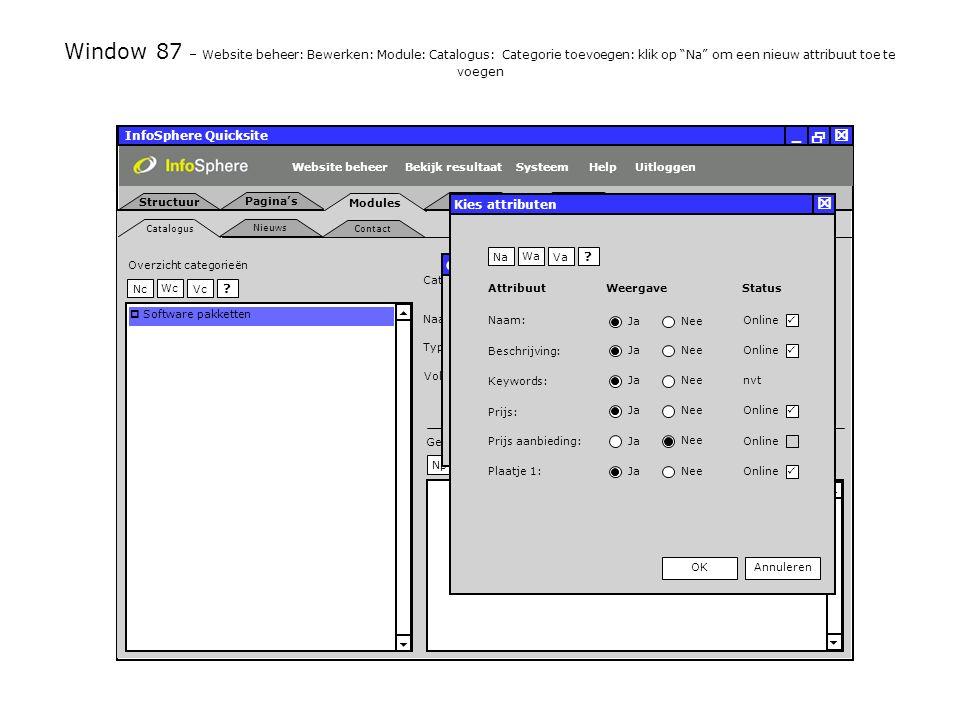 InfoSphere Quicksite   _ Catalogus Nieuws Contact Structuur Pagina's Modules Uitloggen PlaatjesBestanden SysteemBekijk resultaatHelpWebsite beheer   Wp  Np Gerelateerde producten Vp Wc NcVc .