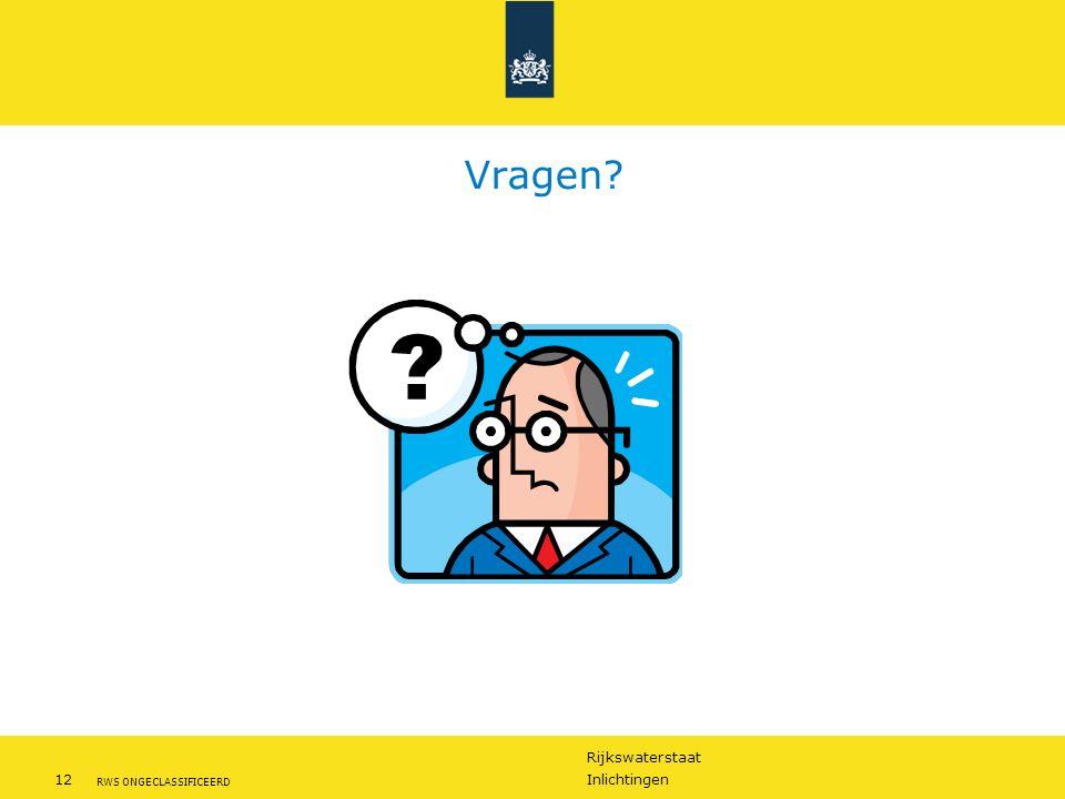 Rijkswaterstaat 12Inlichtingen RWS ONGECLASSIFICEERD Vragen