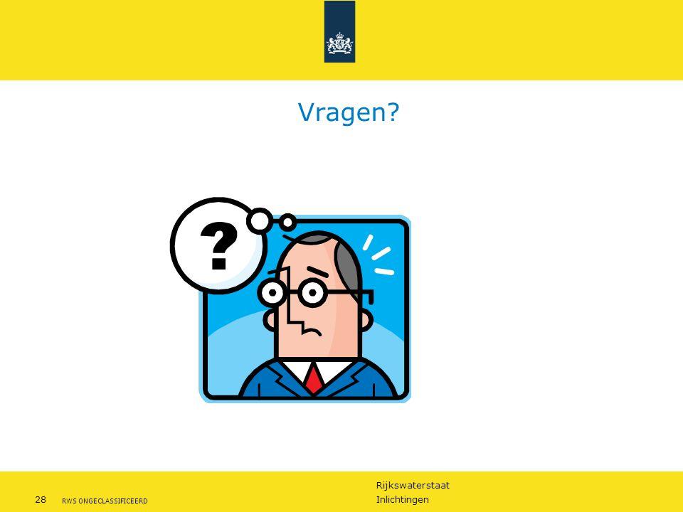 Rijkswaterstaat 28Inlichtingen RWS ONGECLASSIFICEERD Vragen