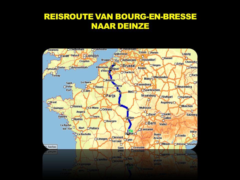 REISROUTE VAN BOURG-EN-BRESSE NAAR DEINZE