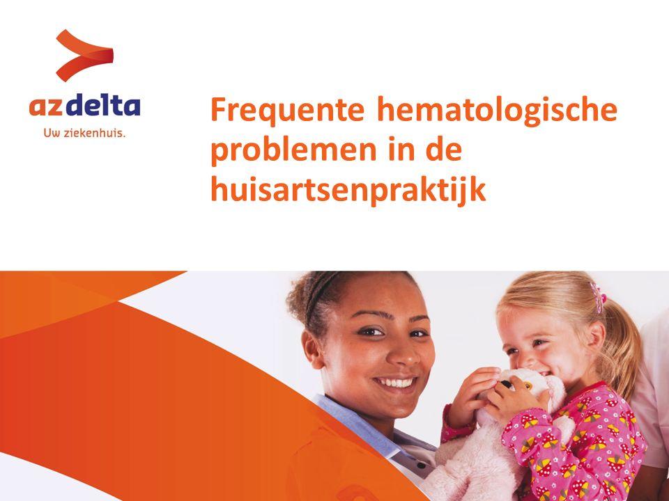 Frequente hematologische problemen in de huisartsenpraktijk