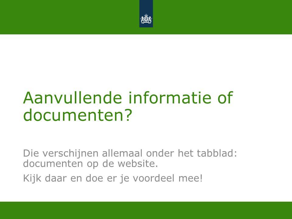 Aanvullende informatie of documenten.