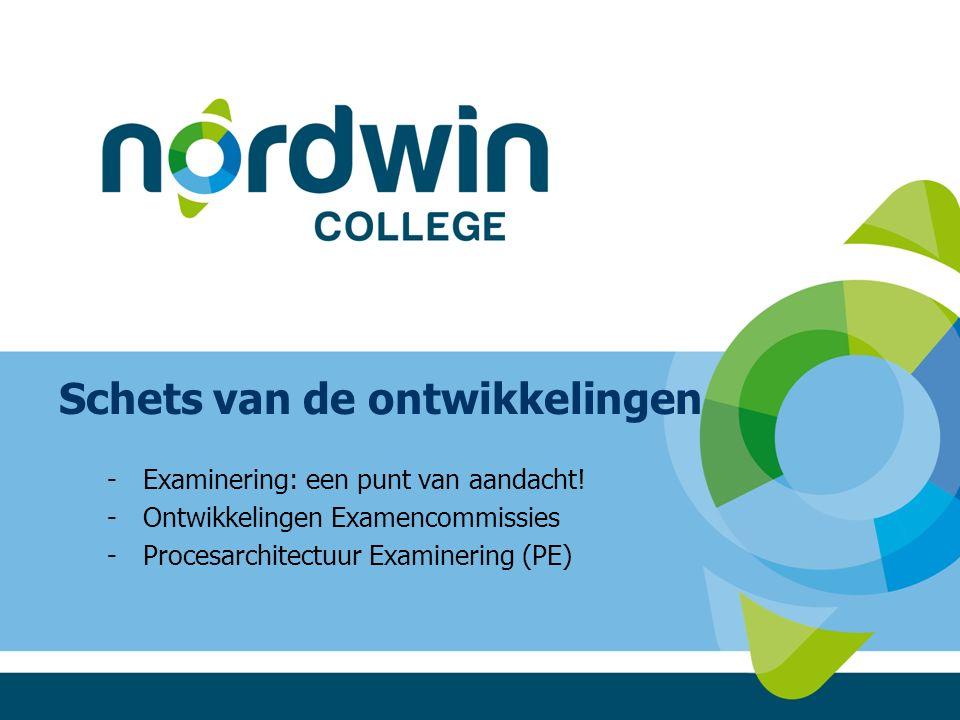 Schets van de ontwikkelingen -Examinering: een punt van aandacht.