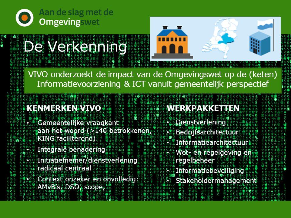 VIVO onderzoekt de impact van de Omgevingswet op de (keten) Informatievoorziening & ICT vanuit gemeentelijk perspectief WERKPAKKETTEN Dienstverlening