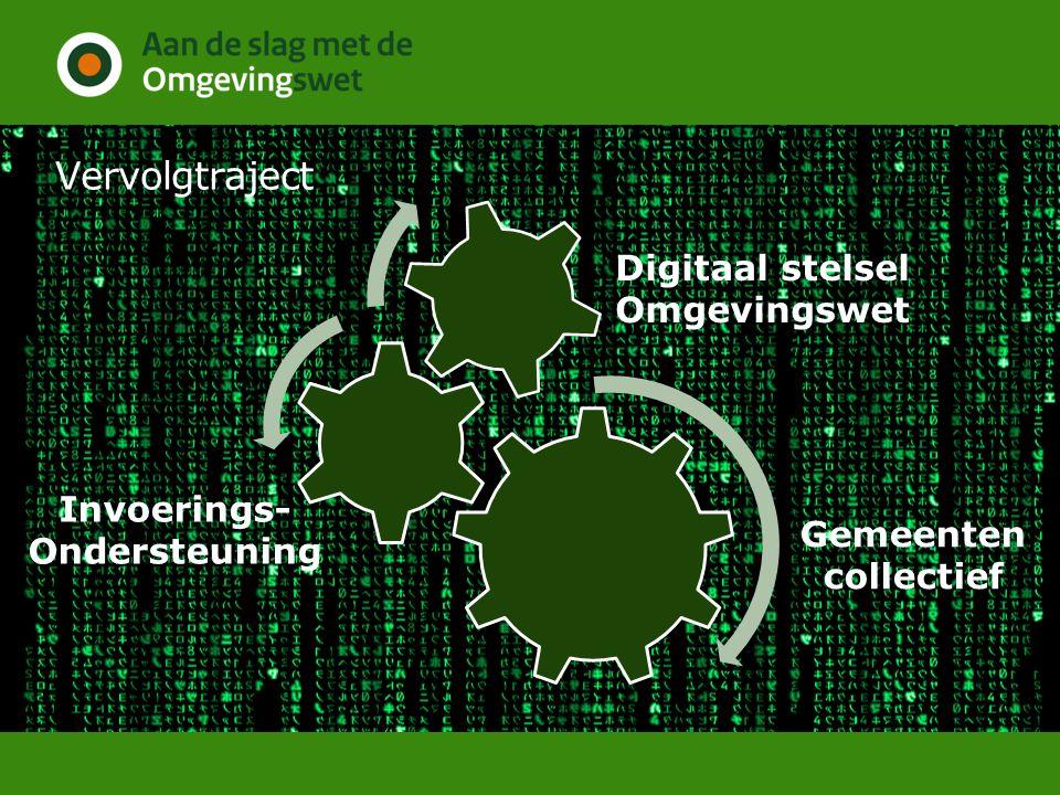 Vervolgtraject Gemeenten collectief Digitaal stelsel Omgevingswet Invoerings- Ondersteuning