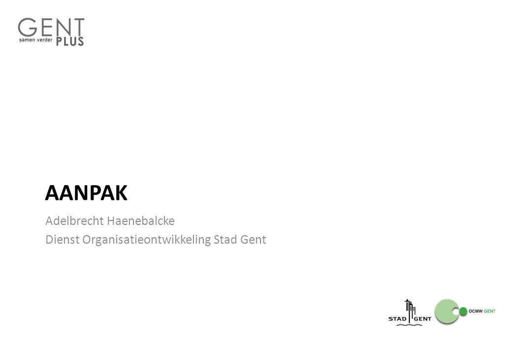 AANPAK Adelbrecht Haenebalcke Dienst Organisatieontwikkeling Stad Gent