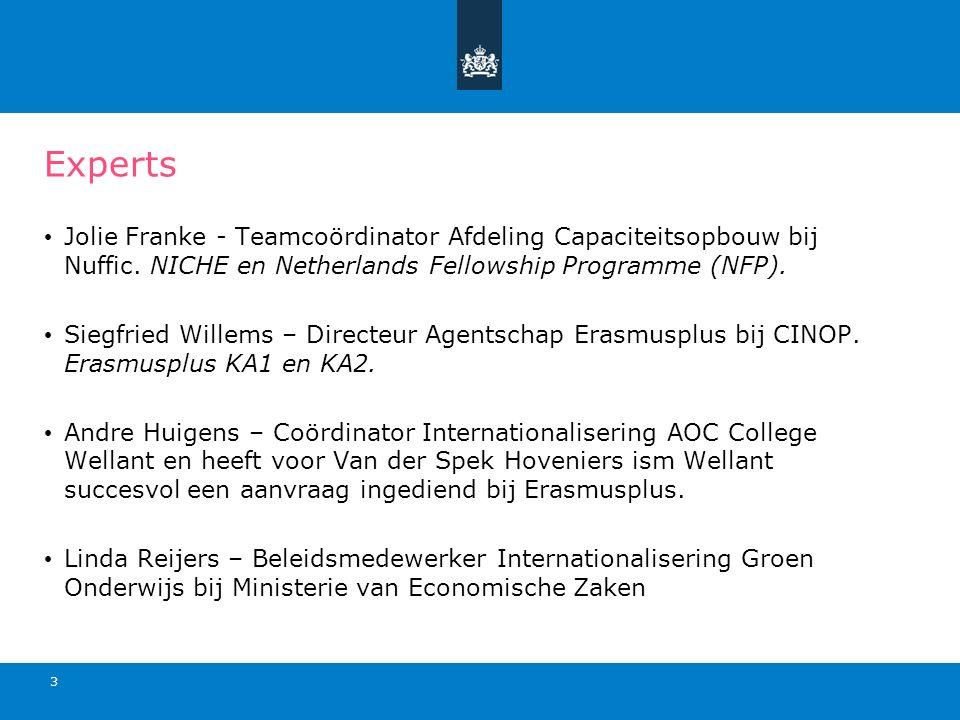 Experts Jolie Franke - Teamcoördinator Afdeling Capaciteitsopbouw bij Nuffic.