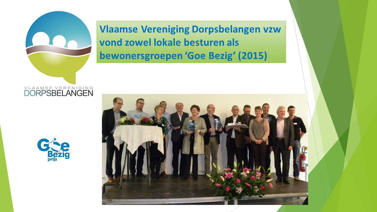 Vlaamse Vereniging Dorpsbelangen vzw vond zowel lokale besturen als bewonersgroepen 'Goe Bezig' (2015)