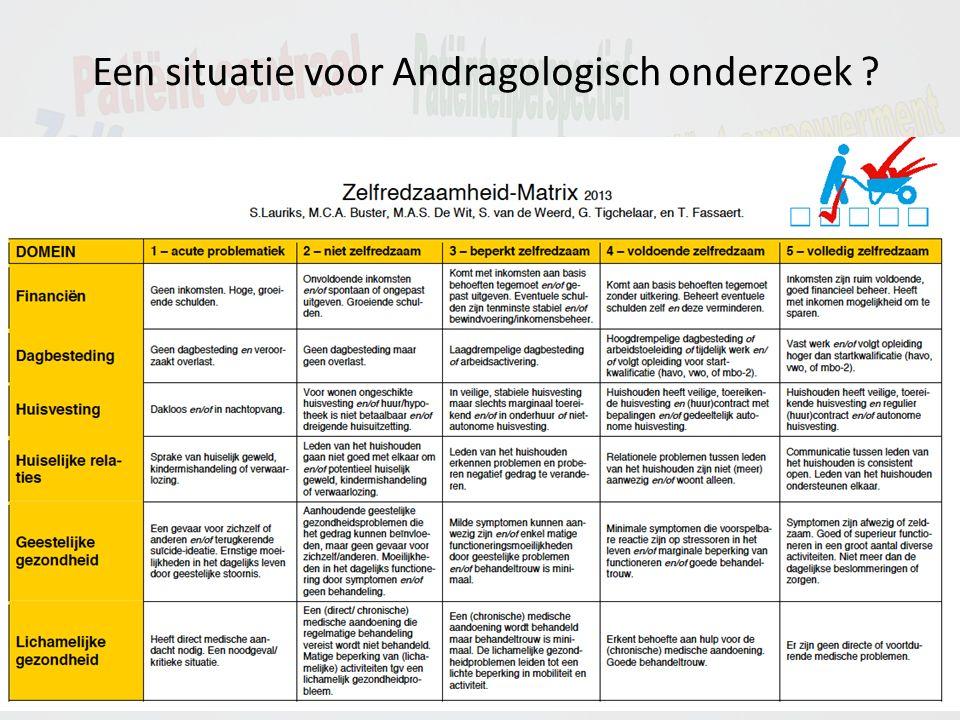 Een situatie voor Andragologisch onderzoek