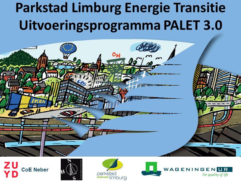 Discussie en vragen CoE Neber Parkstad Limburg Energie Transitie Uitvoeringsprogramma PALET 3.0