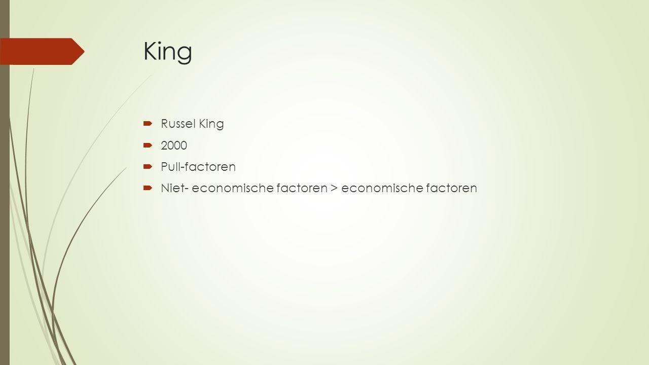King  Russel King  2000  Pull-factoren  Niet- economische factoren > economische factoren