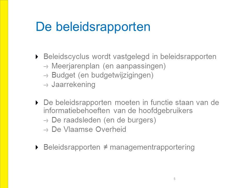 Infobehoeften raadsleden Planningsfase Bepaling van het beleid Wat willen we bereiken (resultaat of effect).