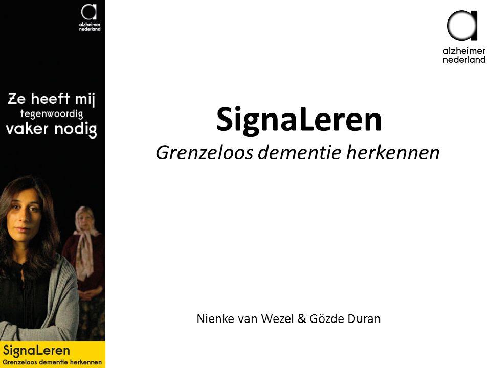 SignaLeren Grenzeloos dementie herkennen Nienke van Wezel & Gözde Duran