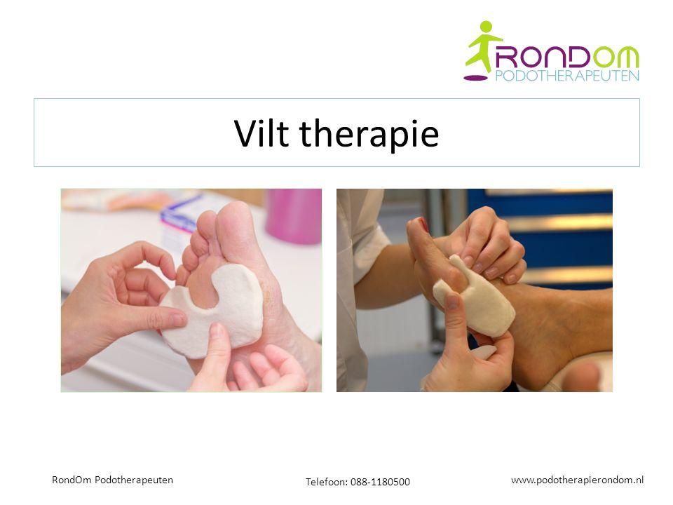 www.podotherapierondom.nl Telefoon: 088-1180500 RondOm Podotherapeuten Vilt therapie