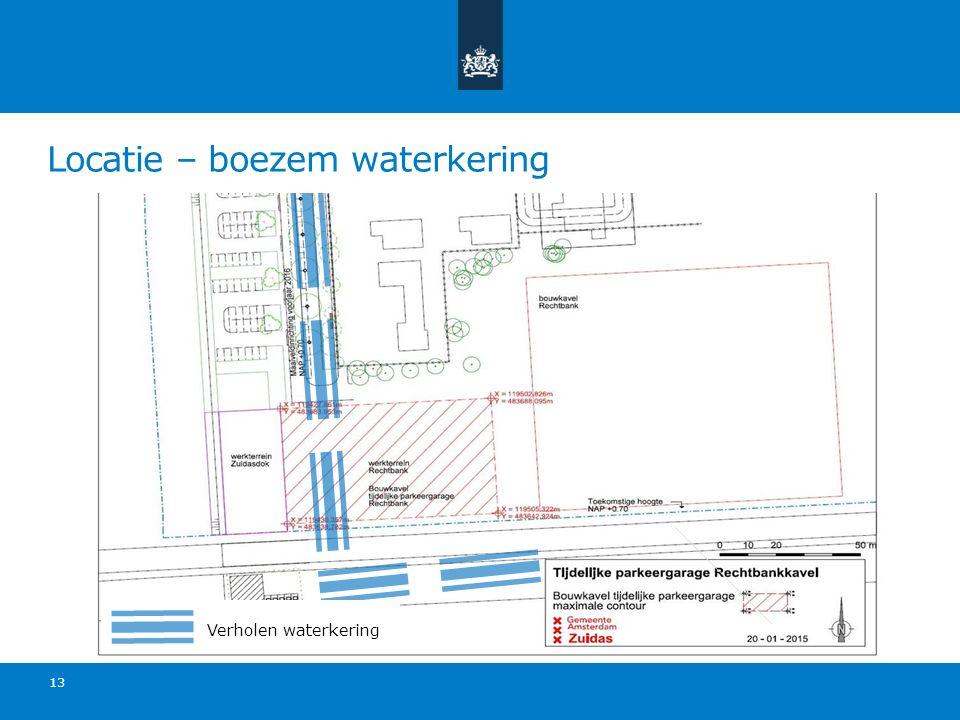 Locatie – boezem waterkering 13 Verholen waterkering