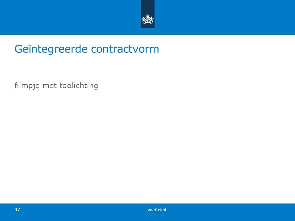 Geïntegreerde contractvorm voettekst 17 filmpje met toelichting