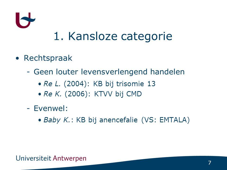 7 1. Kansloze categorie Rechtspraak -Geen louter levensverlengend handelen Re L.
