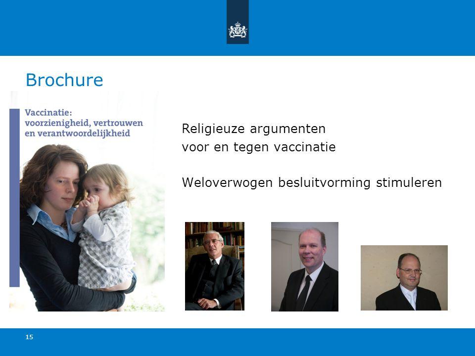 Brochure Religieuze argumenten voor en tegen vaccinatie Weloverwogen besluitvorming stimuleren 15