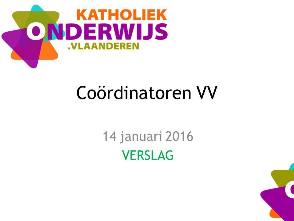 Coördinatoren VV 14 januari 2016 VERSLAG