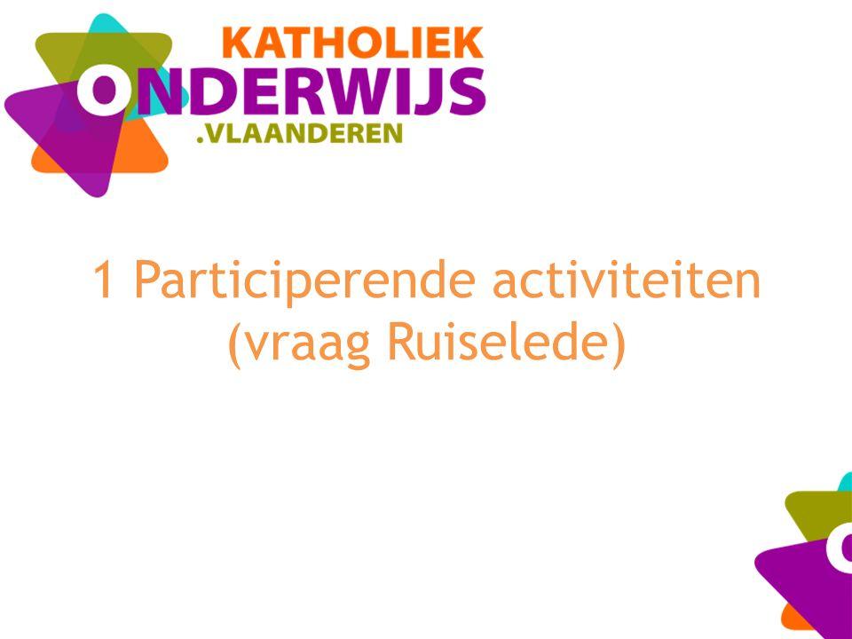 1 Participerende activiteiten (vraag Ruiselede)