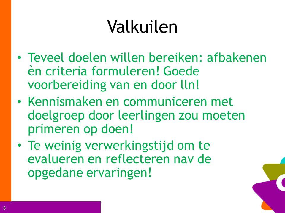 4 Leerplanrealisatie (vorig verslag + vraag Oostende) Wil aub eigen systeem van jaar of graadsplanning meebrengen of digitaal tonen alsook evaluatiesysteem?)