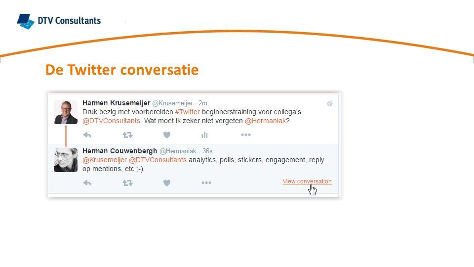De Twitter conversatie