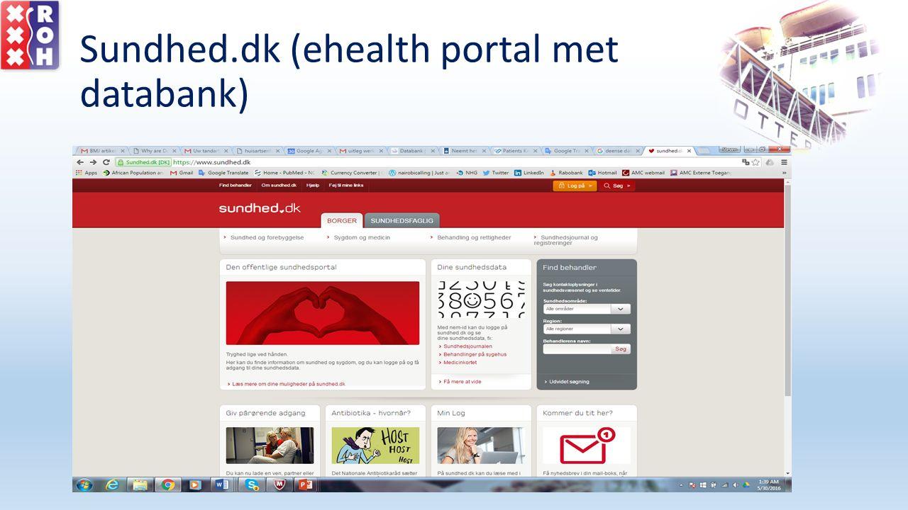 Sundhed.dk (ehealth portal met databank)