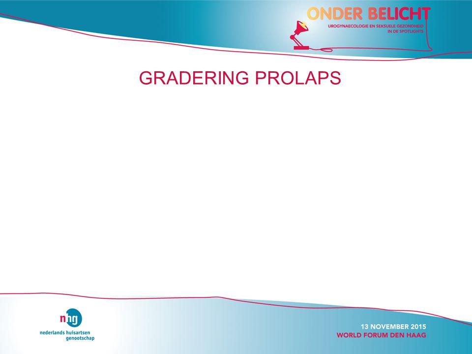 GRADERING PROLAPS