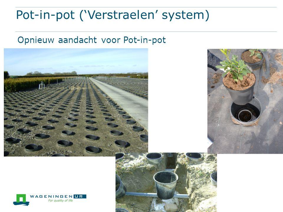 Pot-in-pot ('Verstraelen' system) Opnieuw aandacht voor Pot-in-pot