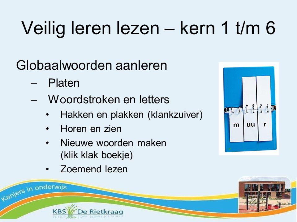 Veilig leren lezen – kern 7 t/m 12 Samenstellingen: sch– –ng –nk –cht Meerdere lettergrepen Samengestelde woorden: fietspad Uitzonderingen be- ge- -ig -lijk Leesbegrip