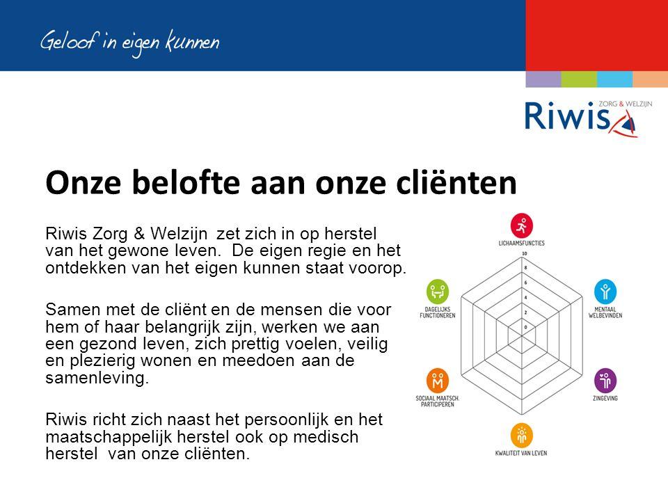 Onze belofte aan onze cliënten Riwis Zorg & Welzijn zet zich in op herstel van het gewone leven.