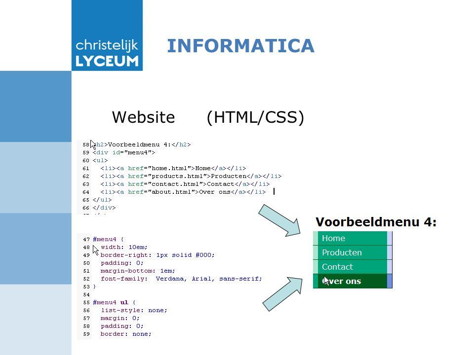 INFORMATICA Website (HTML/CSS)