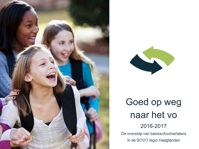 Goed op weg naar het vo 2016-2017 De overstap van basisschoolverlaters in de BOVO regio Haaglanden