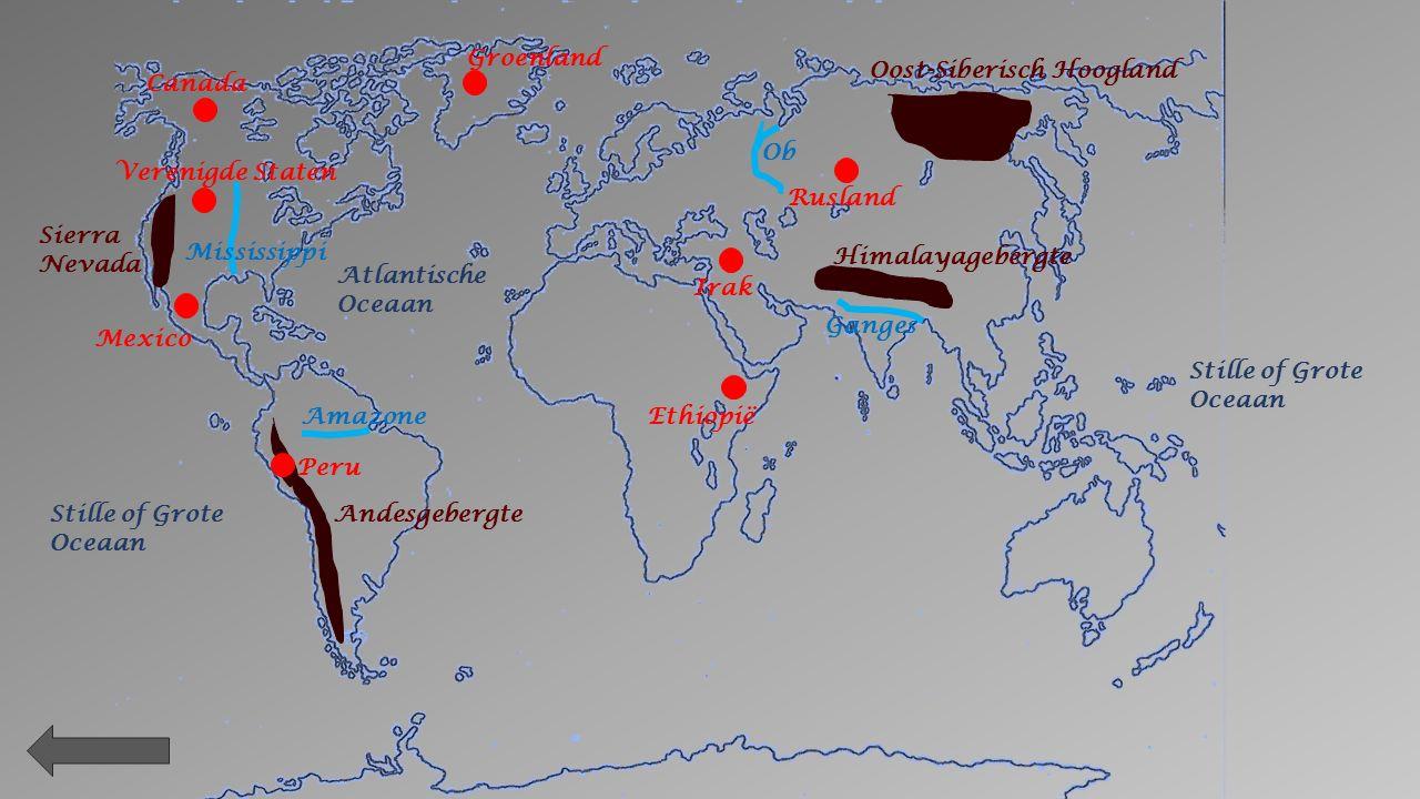 Noordelijke Ijszee Stille Oceaan Indische Oceaan Stille of Grote Oceaan Atlantische Oceaan Legende Zuid - Amerika Noord- Amerika Europa AfrikaAntarctica AziëOceanië