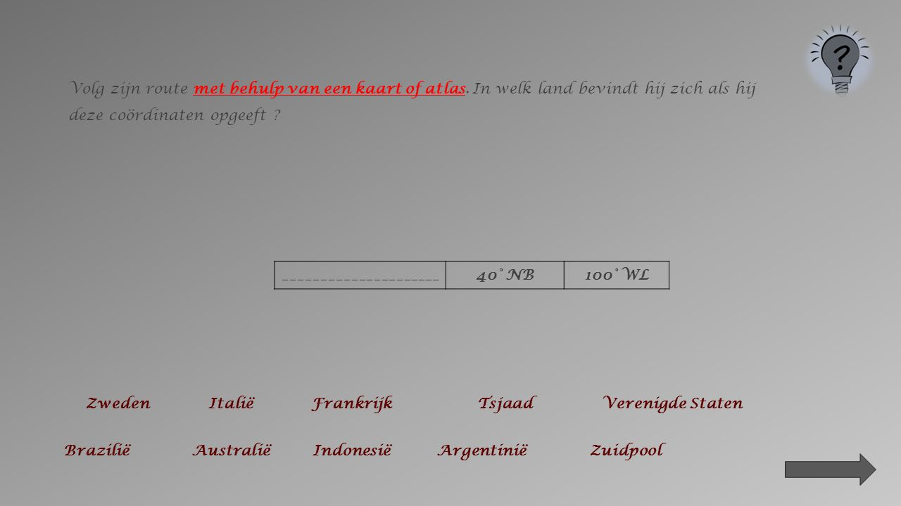 Volg zijn route met behulp van een kaart of atlas.