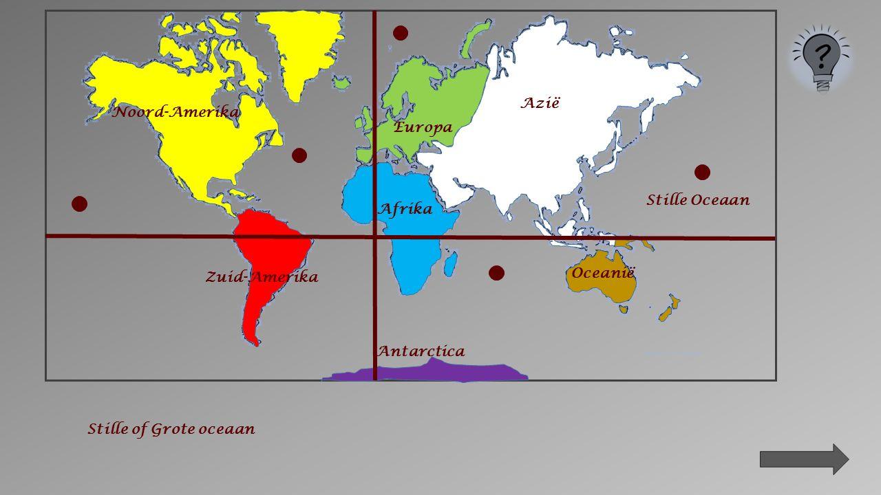 Oceanië Azië Zuid-Amerika Antarctica Afrika Noord-Amerika Europa