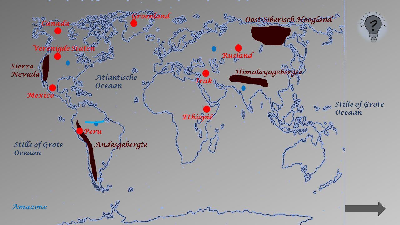 4. Opzoeken in het atlas. Klik, op de volgende dia's, op het juiste bolletje voor de rivieren