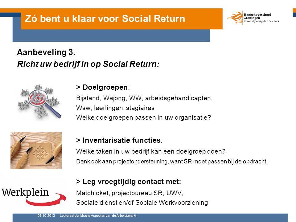 Zó bent u klaar voor Social Return Aanbeveling 3.