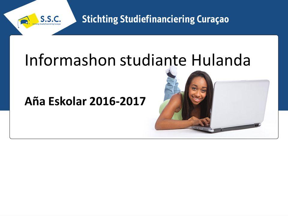 Informashon studiante Hulanda Aña Eskolar 2016-2017
