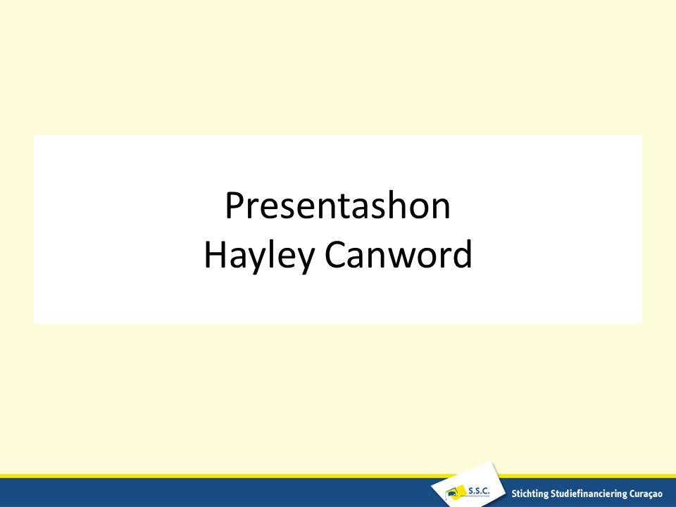 Presentashon Hayley Canword