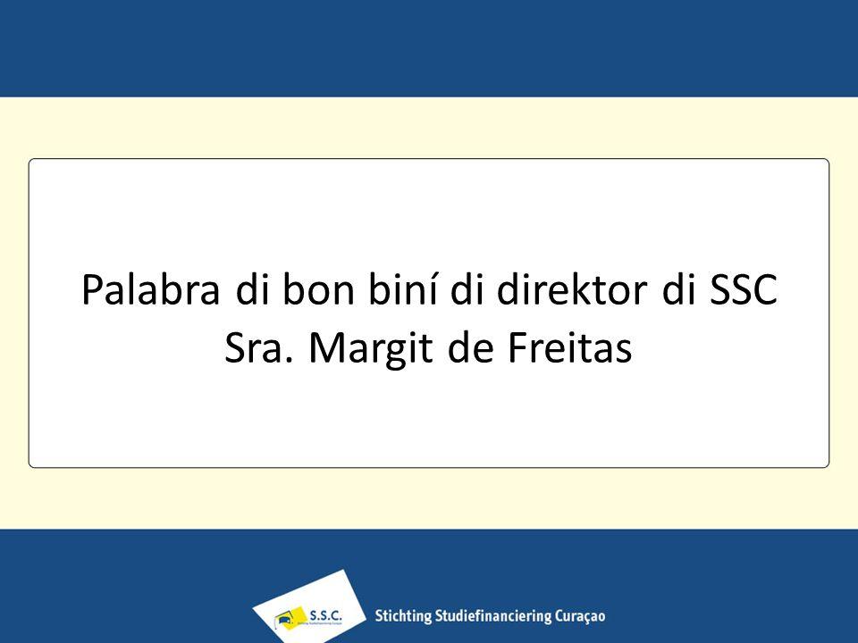 Palabra di bon biní di direktor di SSC Sra. Margit de Freitas