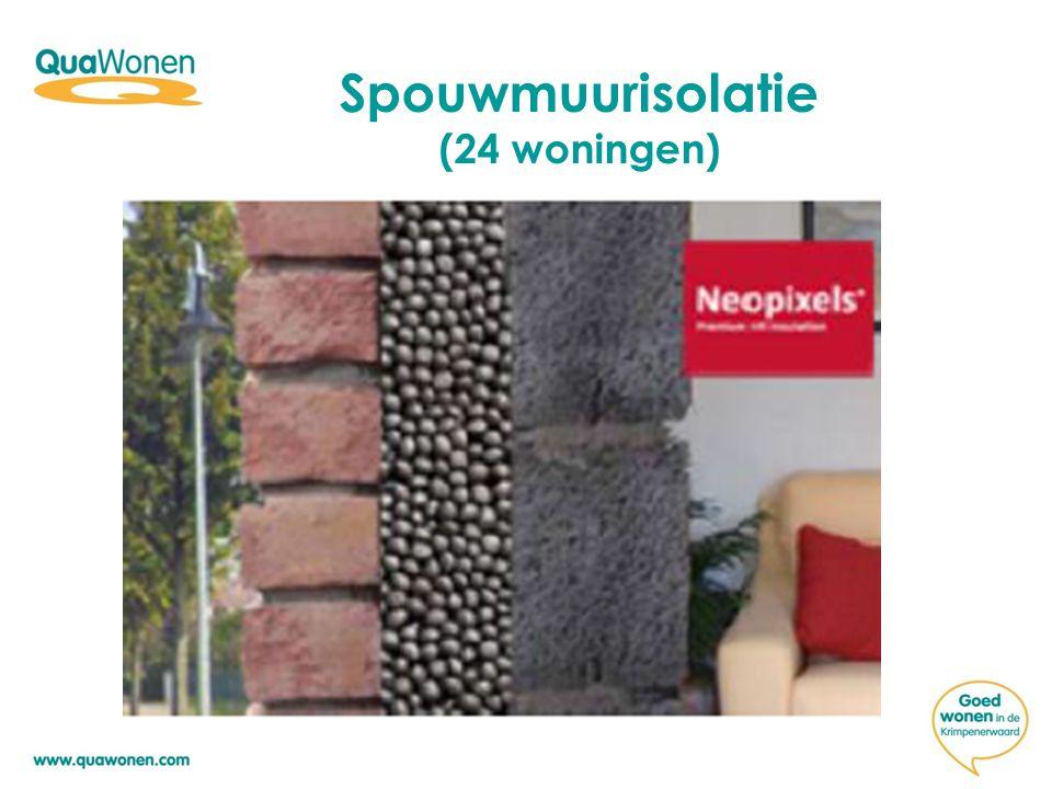 Spouwmuurisolatie (24 woningen)