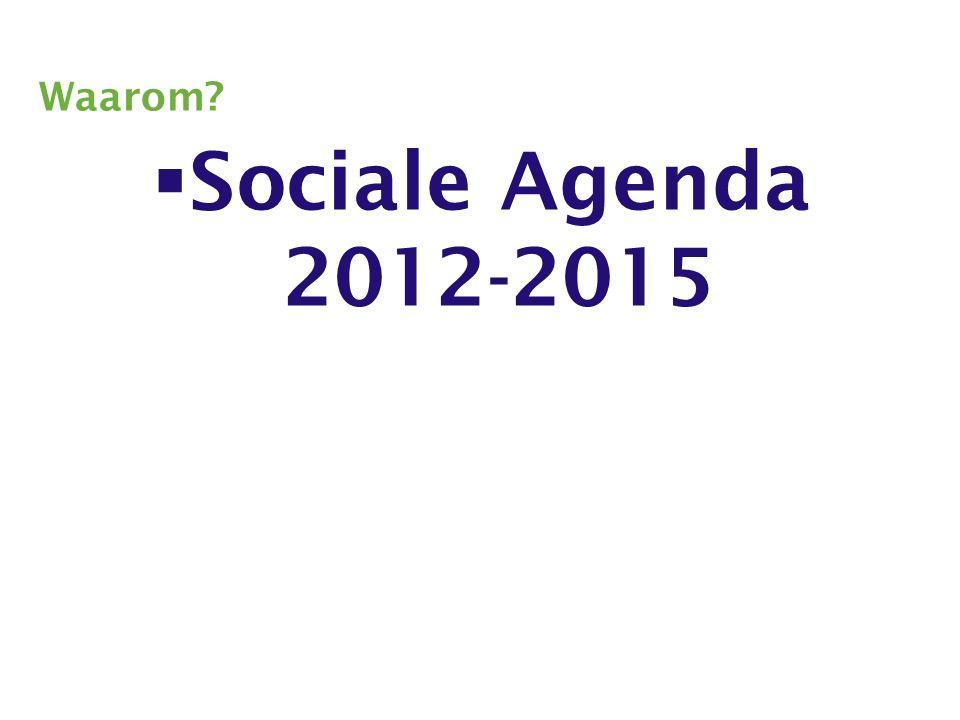 Waarom  Sociale Agenda 2012-2015
