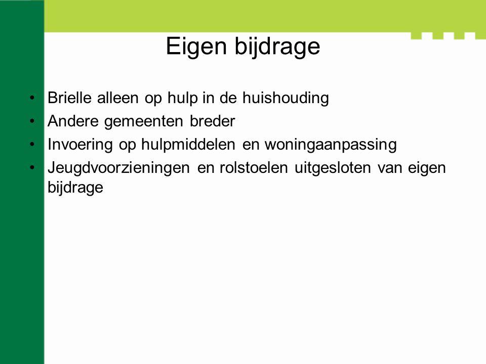 Clientondersteuning Wettelijk verplicht Via stichting Mee Kosten ca. een ton