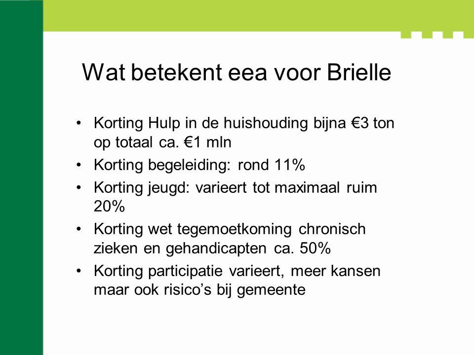Wat betekent eea voor Brielle Korting Hulp in de huishouding bijna €3 ton op totaal ca.