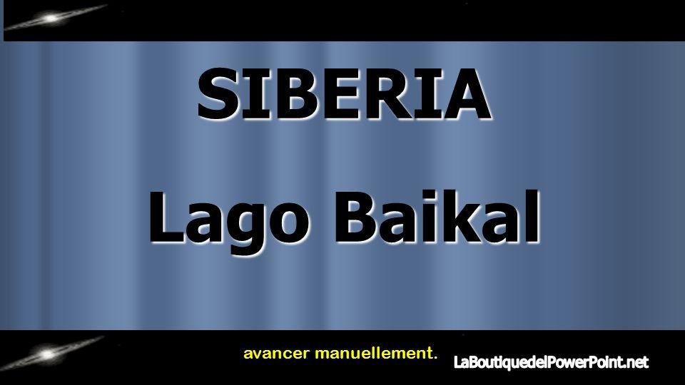 SIBERIA Lago Baikal avancer manuellement.