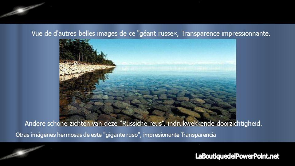 Beau paysage contournant le lac Baïkal.